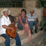 Trinidad - Straßenmusiker auf dem Plaza Major am Abend