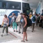 Trinidad - auf dem Busbahnhof in Trinidad vor der Abfahrt nach Camagüey