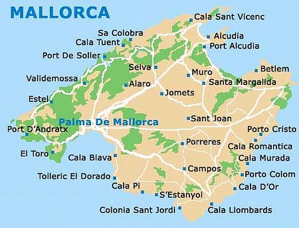 Porto Cristo Karte.Playa Romantica Mallorca Karte Kleve Landkarte