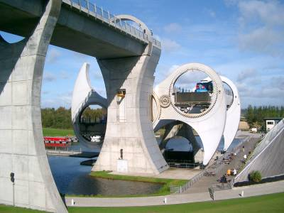 Falkirk Wheel bei Edinburgh